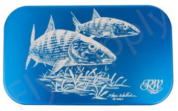 Wheatley Flat/Ripple Large Blue Bonefish Aluminium Fly Box