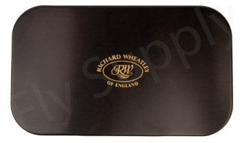 Wheatley Flat/Ripple Large Fat Black Aluminium Fly Box