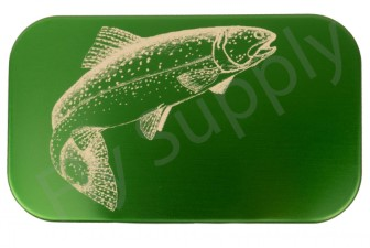 Wheatley Flat/Slit Large Dark Green Trout Aluminium Fly Box