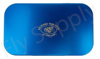 Wheatley Flat/Slot Large Blue Aluminium Fly Box
