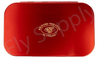 Wheatley Flat/Slot Large Red Aluminium Fly Box