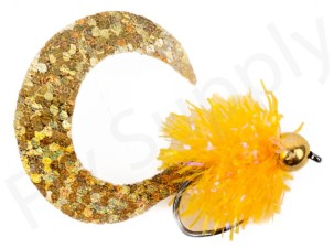 Wiggle Tail Fluo Orange Trout & Perch Streamer #8
