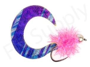Wiggle Tail Fluo Pink Trout & Perch Streamer #8