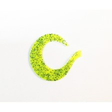 Vinyl Wiggle Tails Chartreuse Glitter