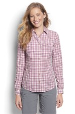 Orvis Rainy Bridge Long Sleeve Shirt Orchid