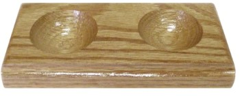 Wooden Hook & Bead Dish Double