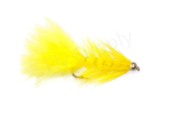 Goldbead Wooly Bugger yellow 4 cm