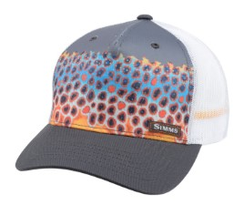 Simms 5-panel Trucker Cap Deyoung Trout Charcoal