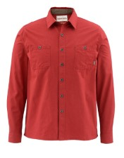 Simms Black's Ford Flannel Solid Ruby