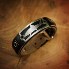 Sight Line Bonefish 2.0 Horween Black Leather Bracelet