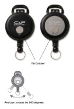 C&F Pin On Reel with Fly Catcher Black - CFA-72-BK