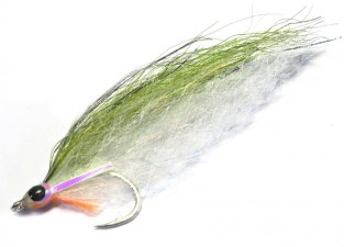 H2O Deadly Deceiver Olive & White #1/0