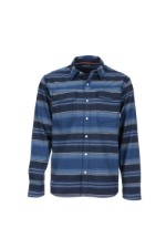 Simms Gallatin Flannel Shirt Rich Blue Stripe
