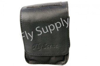 Fly Scene Reel Pouch Black Leather