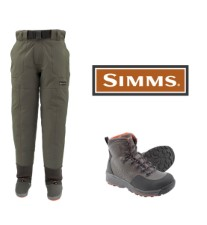 Simms Freestone Pants Set and Freestone Rubber Boots