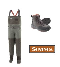 Simms Freestone Rubber Boot Set Wader Dark Gunmetal