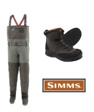 Simms Freestone Felt Boot Set Wader Dark Gunmetal