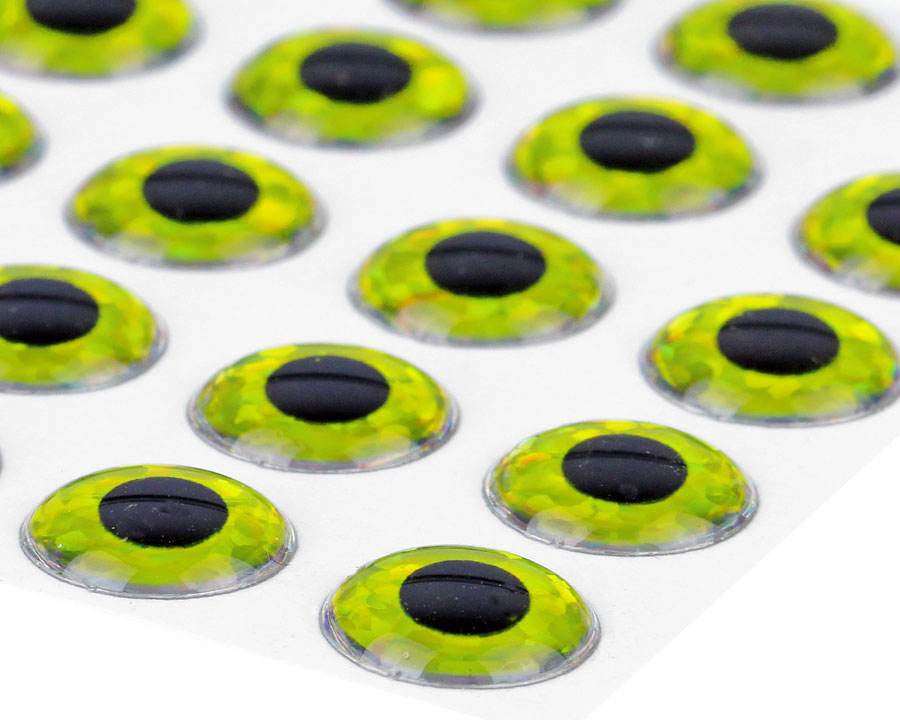 3D Epoxy Eyes Holographic Yellow 20pc