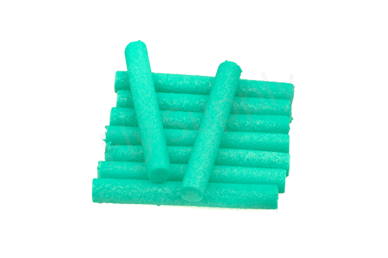 Booby tubes medium 6 mm  Green