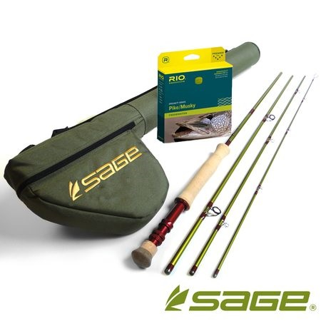 Sage Pike & Musky 4pc Fly Rod With Fly Line