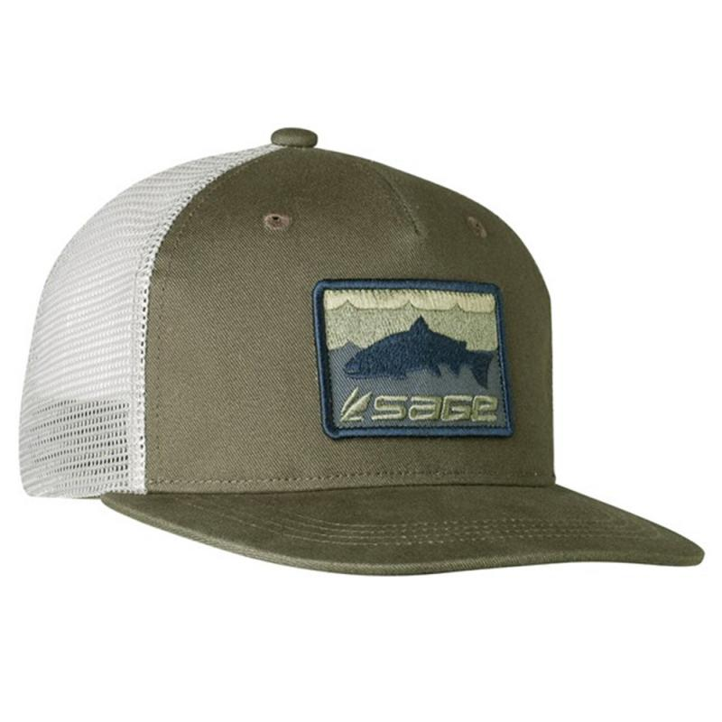Sage Patch Trucker Green Trout Cap