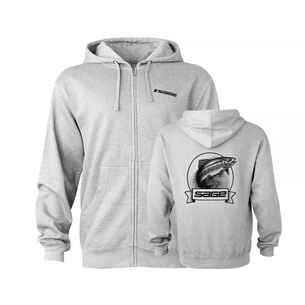 Sage Heritage Zip Hoodie Heather Grey