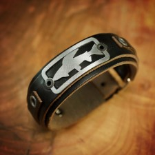 Sight Line Grayling 2.0 Horween Black Leather Bracelet