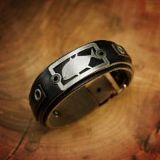 Sight Line GT 2.0 Horween Black Leather Bracelet