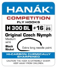 Hanak Czech Nymph H 300 BL Hooks 25 pc
