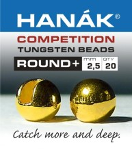 Hanak Tungsten Gold Slotted Jig Beads 20pc