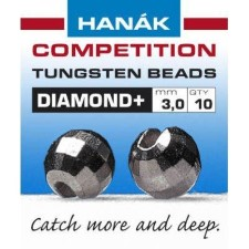 Hanak Diamond + Black Nickel Faceted 20pc