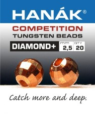 Hanak Diamond + Copper Faceted 20pc