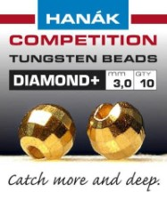 Hanak Diamond + Gold Faceted 20pc
