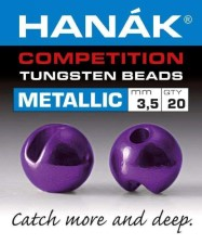 Hanak Tungsten Metallic Dark Violet Slotted Jig Beads 20pc