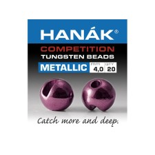 Hanak Tungsten Metallic Light Violet Slotted Jig Beads 20pc