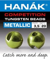 Hanak Tungsten Metallic Olive Slotted Jig Beads 20pc