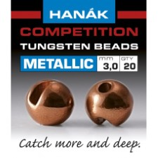 Hanak Tungsten Metallic Brown Slotted Jig Beads 20pc