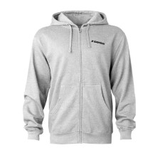 Sage Heritage Zip Hoodie Heather Grey Front