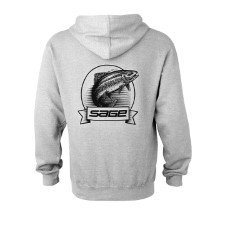 Sage Heritage Zip Hoodie Heather Grey Back