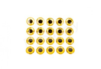 3D Fish Eyes Gold 20pc