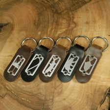Sightline Key Fob Esox Black Leather