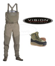 Vision Koski Wader Set With Tossu Rubber Shoes