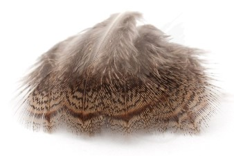 Selected Partridge Hackle Natural Brown & Grey Mix