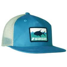 Sage Patch Trucker Tropic Blue Cap