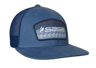 Sage Patch Trucker Blue Tarpon Cap