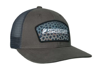 Sage Patch Trucker Green Brown Trout Cap