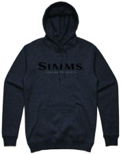 Simms Logo Hoody Charcoal Heather