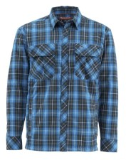 Simms Guide Insulated Shacket Admiral Blue Plaid
