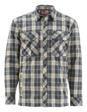 Simms Guide Insulated Shacket Light Khaki Plaid