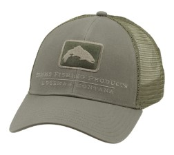 Simms Trout Icon Trucker Tumbleweed Cap